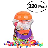 #10: 220 Pieces Snap Pop Beads Girl's Toy DIY Jewelry Kit Fashion Fun for Necklace Ring Bracelet Art Crafts Gift Toys for Kids Girls