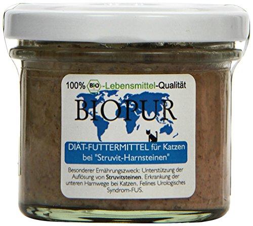 Biopur Diätfutter bei Struvit-Harnsteinen für Katzen, 12er Pack (12 x 100 g)