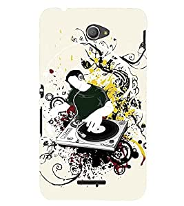Printvisa Dj Introducing New Music Back Case Cover for Sony Xperia E4 Dual::Sony Xperia E4