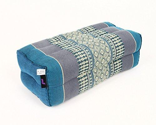 Leewadee Bloque de Yoga, 35x15x10 cm, Capok, Azul Claro