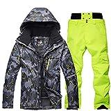 Gski Homme Activewear Set/Veste & Pantalons De Ski Pare, Cap Détachable...