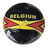lively moments Fútbol / Bola de juego T. 5 / Pelota Bélgica en negro con amarillo y blanco rojo