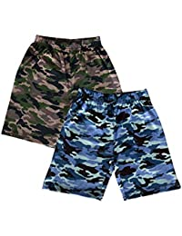 Elk Combed Cotton Baby Boys and Girls Casual Army Shorts Trousers 2 Piece Combo