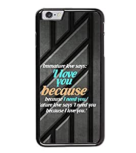 Fuson Premium 2D Back Case Cover I love you With blue Background Degined For Apple iPhone 6 Plus