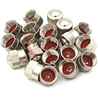 4x pneugo!/® Ventilkappen mit Ventileinschraubwerkzeug und Dichtung f/ür Ventile mit VG8 Gewinde