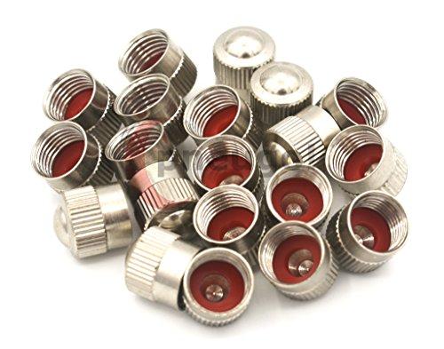 Preisvergleich Produktbild 20 Stück Ventilkappen VG8 Metall mit Dichtung für Autoventil TR13 / TR15