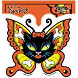 "Sunny Buick - Kitty Crossbones Butterfly autocollant Sticker - 5''x4.5"" - Weather Resistant, Long Lasting for Any Surface"