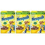 Multipack da 3 Confezioni di Nesquik Cereali Classico Palline di Cereali Al Gusto Cioccolato Ogni Confezione Contiene 330 Grammi