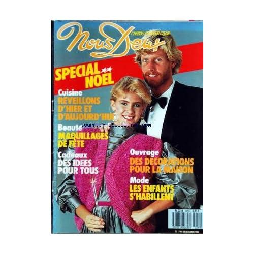 NOUS DEUX [No 2059] du 17/12/1986 - SPECIAL NOEL / CUISINE- - BEAUTE - CADEAUX -DES DECORATIONS POUR LA MAISON -LES ENFANTS S'HABILLENT -GERARD DEPARDIEU ET PIERRE RICHARD