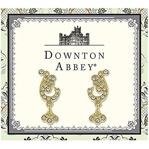 Downton Abbey collezione di gioielli in oro pavimenta Leaf Orecchini 17606