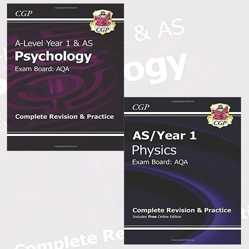 New 2015 A-Level Complete Revision & Practice 2 Books Bundle Collection (New 2015 A-Level Psychology: AQA Year 1 & AS Complete Revision & Practice, New 2015 A-Level Physics: AQA Year 1 & AS Complete Revision & Practice with Online Edition)