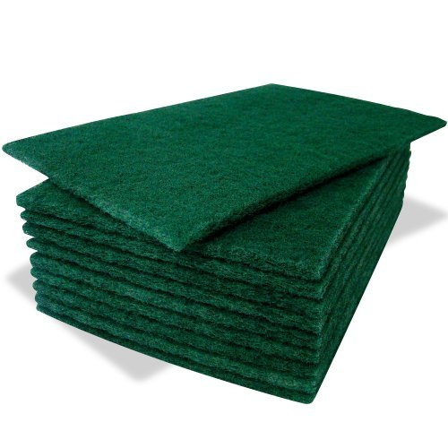 10-pack-of-heavy-duty-green-catering-kitchen-sponge-scourer-pads