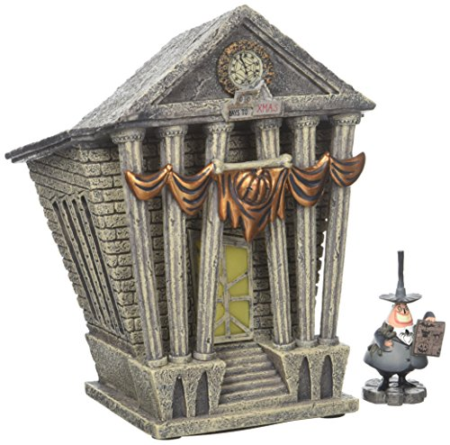 Nightmare before Christmas Department 56 Village Halloween Town City Hall Lit House
