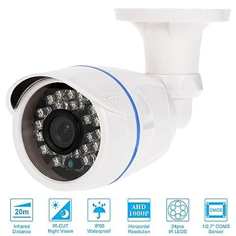 """KKmoon 1080P AHD 2.0MP CCTV Caméra Balle 1/2.7"""" CMOS 24"""