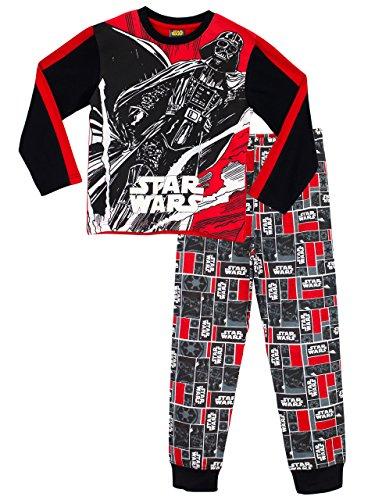 Star Wars - Pigiama a maniche lunga per ragazzi - Si Illuminano al Buio - 11 a 12 Anni