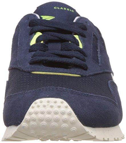 Reebok Damen Classic Nylon Slim EP Sneaker Blau (Collegiate Navy/Electric Flash/Chalk)