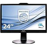 Philips 241P6VPJKEB/00 60,5 cm (23,8 Zoll) Monitor (VGA, DVI, HDMI, USB, DisplayPort, 3840 x 2160, 60 Hz, Pivot) schwarz
