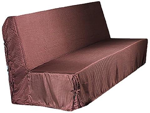 HomeMaison.com HM69453753 Housse de Clic-Clac Moderne Piqué Polyester Chocolat 200 x 140 cm