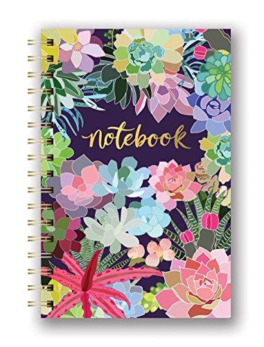 Studio Oh! Hardcover Spiral-Notizbuch, mittelgroß, in 9 Designs erhältlich Succulent Paradise