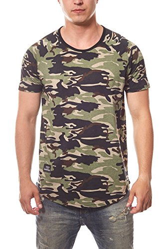 Spartans History Basic Oval Shirt Herren T-Shirt Freizeitshirt Camouflage 400ST, Größenauswahl:M (Grünes T-shirt Ovales)