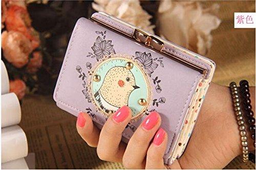 lesempera (TM) Vintage Pochette Cartoon Piccolo Portafogli Per Donne Cerniera BOLSOS Carteras Mujer femmina con porta carte di credito bb066-sz +