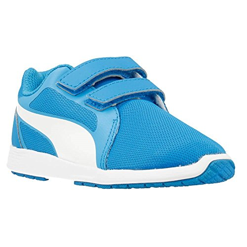 Puma - ST Trainer Evo V - 36087402 - Couleur: Blanc-Bleu - Pointure: 32.5