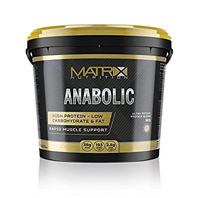 Matrix Nutrition Anabolic Protein Powder - Whey Protein Blend - 80%- Muscle Mass Shake 2.5KG or 5KG. by Matrix Nutrition