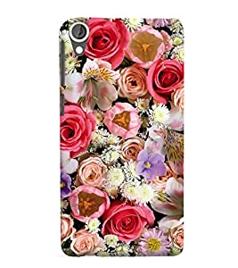 Beautiful Flowers 3D Hard Polycarbonate Designer Back Case Cover for HTC Desire 825 :: HTC Desire 825 Dual Sim