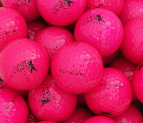12 Links Choice Pink Coloured Golf Balls
