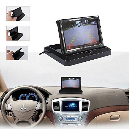Rückfahrkamera Podofo® 4.3″ Faltbarer Drahtloser Auto Rückansicht TFT LCD Monitor mit wasserdichter Nachtsicht Parken Rückfahrkamera Installationssatz - 3