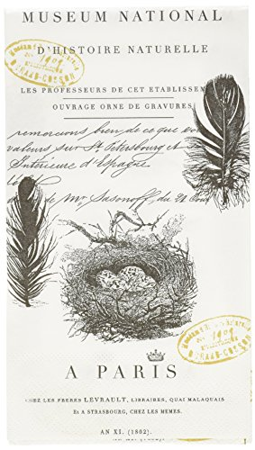 Paperproducts Design Gästetuch aus Papier, französische Schrift, 15 Stück - Land-dekor-betten