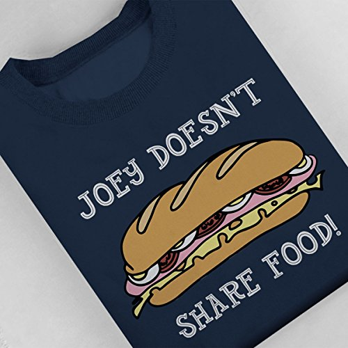 Friends Joey Doesnt Share Food Women's Sweatshirt Navy blue