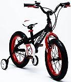 Royalbaby Bull Dozer Fat Tire Bicicletta per Bambini, 45,7cm, per Tutti i Tipi di Terreno, Bicicletta per Bambini energici, Robusta Bicicletta per Bambini con Supporto, rotelle e cavalletto, Black