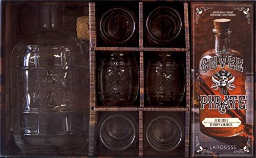 Coffret La cuvée du pirate : Contient : 1 bouteille en verre de 1,5L, 6 shooters en verre par