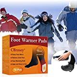 CBROSEY Chauffe Pieds,Pieds Chauds,Autocollant Chauffe,Instant Foot Toes Warmers pour Coussinets Chauffants Auto-adhésifs...