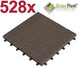 Green Plank® 1 PALETTE 528 STÜCK = 47,52 m² WPC KLICK-FLIESEN 30x30 CM ANTHRAZIT - 70% HOLZANTEIL (FICHTE)