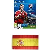 Pro Evolution Soccer (PES) UEFA Euro France 2016 + Bandera España 90x150 cm