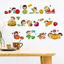 Decoración Para El Hogar De Bricolaje Dibujos Animados Frutas Y Verduras Cocina Pegatinas De Pared Calcomanías