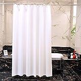 PVC Kunststoff Rein Weiß Duschvorhang, Nein Transparent Undurchsichtig Waschbar Wasserdicht Bad Badewannen Mit Genug Ringe Haken , 150x200 cm