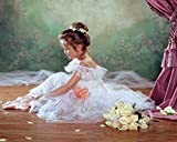 Set Diamond Painting Strass Mosaik Bild Basteln Bastelset Ballerina Tänzerin