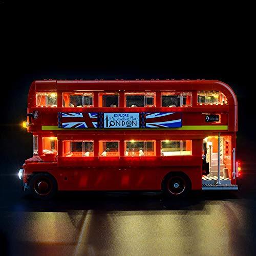 pretty-H LED Spielzeug Beleuchtungskit Für Lego London Bus 10258 Toy Bricks Bausteine