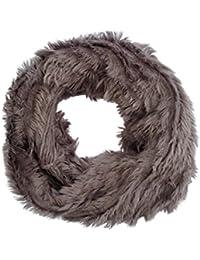 Women's Luxurious Grey Faux Fur Snood Infinity Scarf