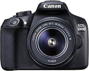 Canon EOS 1300D Digitale Spiegelreflexkamera (18 Megapixel, APS-C CMOS-Sensor, WLAN mit NFC, Full-HD) Kit inkl. EF-S 18-55mm III Objektiv schwarz