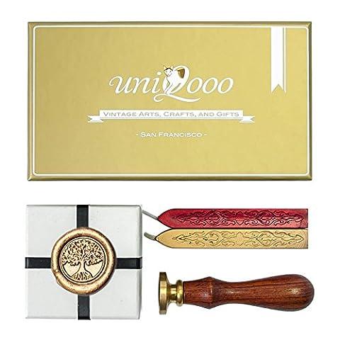 UNIQOOO Arts & Crafts Tree of Life Wax Seal Stamp Kit, Gift Idea