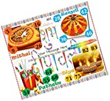 PartyStuff Diwali Theme Tambola Housie Tickets (16 Cards)