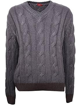 B5189 maglione uomo ALTEA lana grigio marrone sweater men