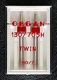 Nähmaschinennadeln Organ, TWIN 80/2.0mm #144