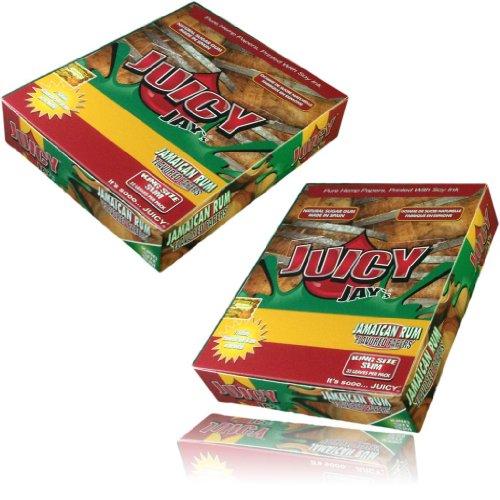 Juicy-Jays-Kingsize-Zigarettenpapier mit Jamaika-Rum-Geschmack, 1 Stück