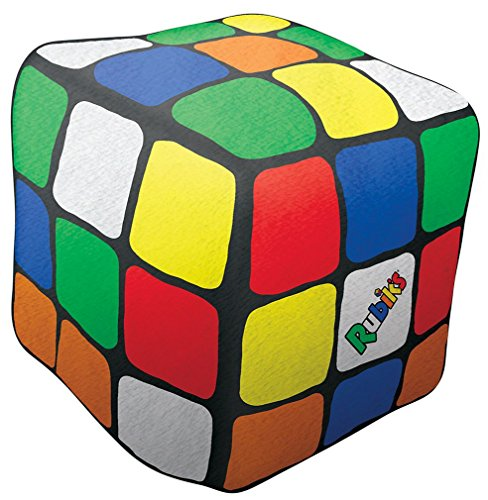 iscream Old School! Rubik's Cube Mikroperlen Accent Pillow Collection Mini Size Scented 3D Rubik's Cube -