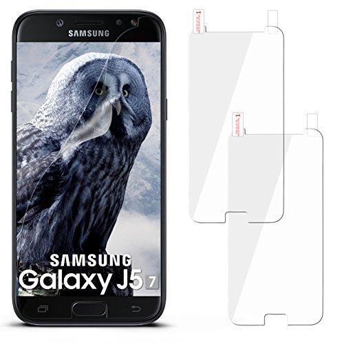 moex 2X Samsung Galaxy J5 (2017) | Schutzfolie Klar Display Schutz [Crystal-Clear] Screen Protector Bildschirm Handy-Folie Dünn Displayschutz-Folie für Samsung Galaxy J5 2017 Displayfolie